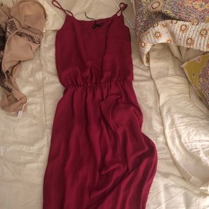 Cute magenta maxi dress! Perfect for wedding.